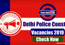 Delhi Police Constable Recruitment 2019 - Apply Online, Eligibility, Exam Pattern