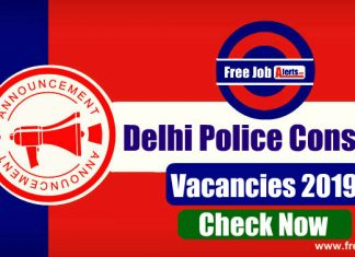 Delhi Police Constable Recruitment 2019 - Apply Online, Eligibility, Exam Pattern