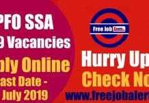 EPFO Social Security Assistant (SSA) 2189 Vacancies, Apply Online, Eligibility Criteria