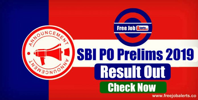 SBI PO Prelims Result 2019 Out, Check SBI PO Result Here