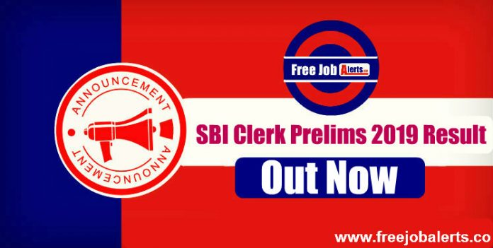 SBI Clerk Prelims Result 2019 Out, Check SBI Clerk Result Here