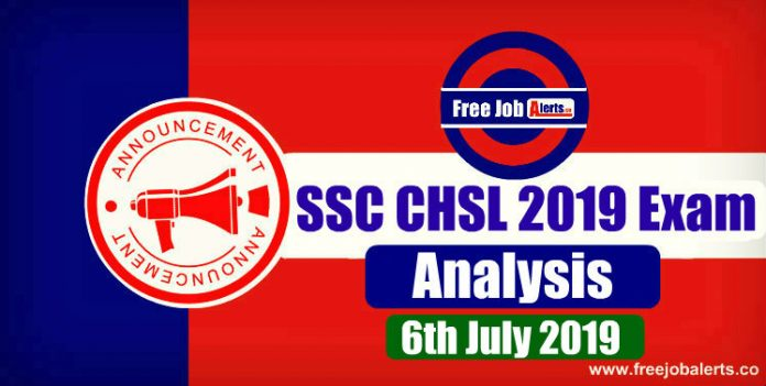 SSC CHSL 2019 Exam Analysis & Question Asked (All Shifts) - 6th July 2019