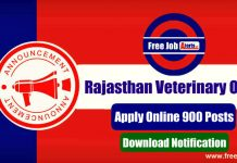 Rajasthan Veterinary Officer Recruitment 2019 - Apply Online 900 Vacancies, Last Date