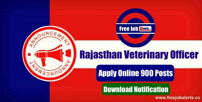 Rajasthan Veterinary Officer Recruitment 2019 - Apply Online 900 Vacancies, Last Date