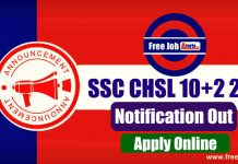SSC CHSL 10+2 Vacancies 2019 - Last Date 10th January 2020