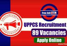 UPPCS 89 Various Vacancies 2019 - Last Date 16th December 2019