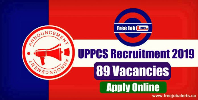 UPPCS 89 Various Vacancies 2019 - Last Date 16th December 2019