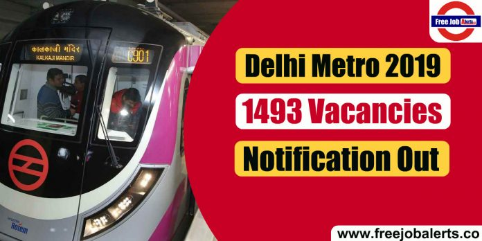 DMRC 1493 Vacancies Notification 2019 - Last Date 13th January 2020