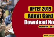 UPTET Admit Card 2019 - Download Hall Ticket Here