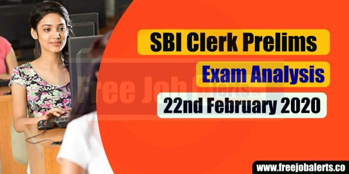 SBI Clerk Prelims Exam Analysis 2020 - 22nd February 2020(All Shifts)