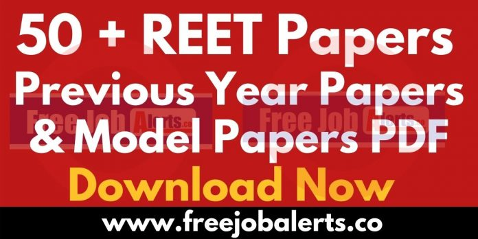 50+ REET Previous Year Question Papers