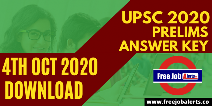 UPSC Prelims Answer Key 4th October 2020