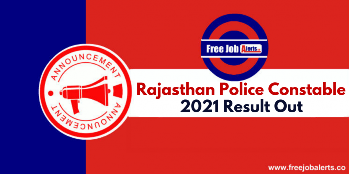Rajasthan Police Constable Result 2021 - Name Wise/Roll Number Wise
